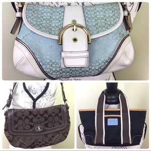 3 Small coach bags ~ authentic but DIRTY